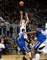 David Kravish of California shoots the ball during the game against SJSU at Haas Pavilion in Berkeley, California on December 7th, 2011.   California defeated San Jose State, 81-62.