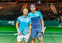 Rotterdam, The Netherlands, 12 Februari 2019, ABNAMRO World Tennis Tournament, Ahoy, first round singles: Milos Raonic (CAN) - Philipp Kohlschreiber (GER),<br /> Photo: www.tennisimages.com/Henk Koster