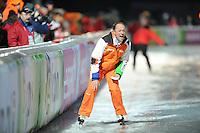 SCHAATSEN: BOEDAPEST: Essent ISU European Championships, 07-01-2012, coach Gerard Kemkers NED, ©foto Martin de Jong