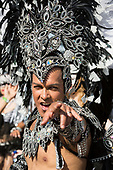 London, UK. 28 August 2017. London School of Samba. Notting Hill Carnival celebrations and parade on Bank Holiday Monday. The festival attacts over 1 million visitors and in 2017  it remembers the victims of the Grenfell Tower fire.