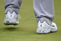 Tiger Woods' (USA) shoes with logo on the green on 1 during Rd3 of the 2019 BMW Championship, Medinah Golf Club, Chicago, Illinois, USA. 8/17/2019.<br /> Picture Ken Murray / Golffile.ie<br /> <br /> All photo usage must carry mandatory copyright credit (© Golffile   Ken Murray)