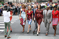 NEW YORK, NY-September 28: Hoda Kotb, Kathie Lee Giffortd, Matt Lauer,Savannah Guthrie, Al Roker, Tamron Hall,  at  Today Show Commerical at 30 Rockefeller  Center Plaza in New York. September 28, 2016. Credit:RW/MediaPunch