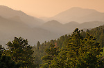 foothills landscape, morning in the Retreat near Glen Haven, Colorado, USA