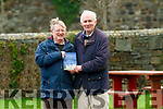 "Pat Lynch Tarbert accepting a copy from Christopher Keane of his new book ""Earls of Castlehaven"" in Tarbert on Tuesday."