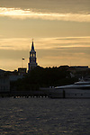 St Michaels Church Charleston Waterfront Sunset