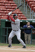 May 3, 2004:  Third baseman Kevin Youkilis of the Pawtucket Red Sox, Triple-A International League affiliate of the Boston Red Sox, during a game at Dunn Tire Park in Buffalo, NY.  Photo by:  Mike Janes/Four Seam Images