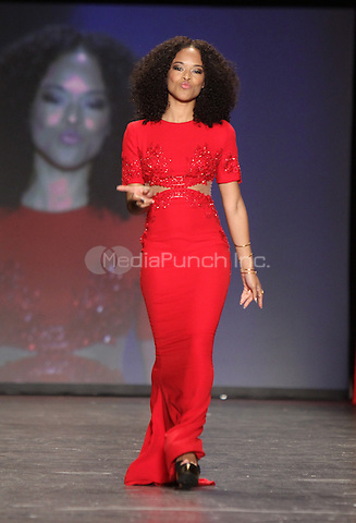 02 11, 2016: Serayah at The American Heart Association's Go Red For Women Red Dress Collection During 2016/17 New York Fashion Week  at Skylight Moynihan Station in New York. Credit:RW/MediaPunch