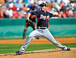 4 March 2011: Atlanta Braves pitcher Eric O'Flaherty in action during a Spring Training game against the Washington Nationals at Space Coast Stadium in Viera, Florida. The Braves defeated the Nationals 6-4 in Grapefruit League action. Mandatory Credit: Ed Wolfstein Photo