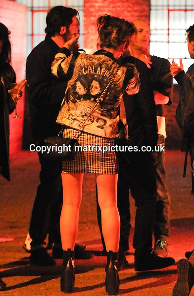 NON EXCLUSIVE PICTURE: PALACE LEE / MATRIXPICTURES.CO.UK<br /> PLEASE CREDIT ALL USES<br /> <br /> WORLD RIGHTS<br /> <br /> English actress Jaime Winstone attending Lily Allen's official after show party at Loft Studios, in London. <br /> <br /> Earlier on in the evening, Lily performed live at the Shepherd's Bush Empire to celebrate the launch of her new album Sheezus. <br /> <br /> APRIL 28th 2014<br /> <br /> REF: LTN 142086
