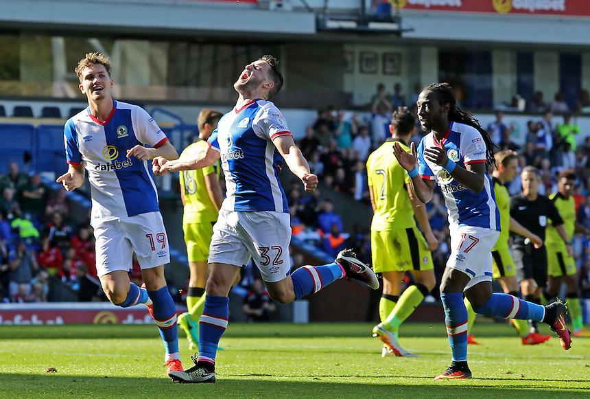 Blackburn Rovers' Craig Conway celebrates scoring his sides first goal<br /> <br /> Photographer David Shipman/CameraSport<br /> <br /> The EFL Sky Bet Championship - Blackburn Rovers v Rotherham United - Saturday 17 September 2016 - Ewood Park - Blackburn<br /> <br /> World Copyright &copy; 2016 CameraSport. All rights reserved. 43 Linden Ave. Countesthorpe. Leicester. England. LE8 5PG - Tel: +44 (0) 116 277 4147 - admin@camerasport.com - www.camerasport.com