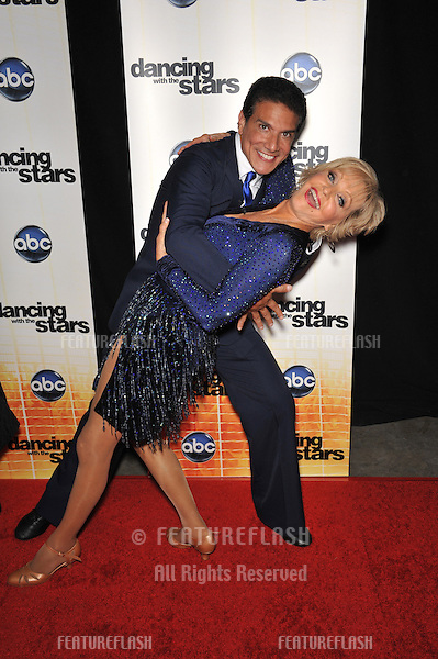 Florence Henderson & Corky Ballas at the Season 11 premiere of ABC's Dancing With The Stars at CBS Television City, Los Angeles..September 20, 2010  Los Angeles, CA.Picture: Paul Smith / Featureflash