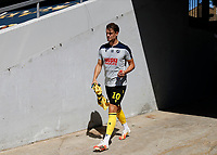 18th July 2020; The Kiyan Prince Foundation Stadium, London, England; English Championship Football, Queen Park Rangers versus Millwall; Matt Smith of Millwall walking from the away tunnel onto the pitch before kick off