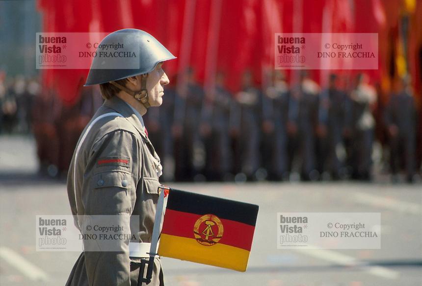 - East Berlin, parade for the first May festivity....- Berlino Est, parata per la festa del primo Maggio