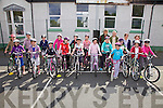 As part of National Bike Week 4th, 5th & 6th classes at St Josephs NS Cahersiveen were given safe cycling instruction by members of the Cahersiveen/ Killorglin Cycle Club on Tuesday last pictured here front l-r; Kate O'Sullivan, Kelsey McCarthy, Ciara Quigley, Sarah Landers, Patricia O'Sullivan, Catherine O'Connell, Leah Brennan, Hope Boyle, Stacey O'Sullivan, Sadbh O'Shea, Orla Coffey, Abbie Daly, Jessica O'Connor, Ciara Devlin, Sarah McCarthy, Natalie O'Connor, Grace O'Connell, back l-r; Morgan O'Sullivan, Dan Ahern, Susan Daly(Teacher), & Mary Sugrue(Principal).