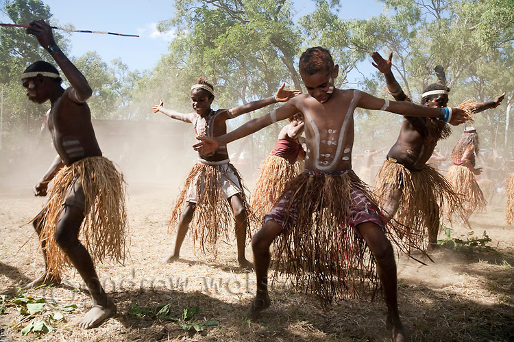 Indigenous dancing at the Laura Aboriginal Dance Festival.  Laura, Queensland, Australia
