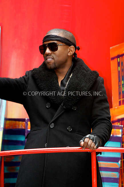 WWW.ACEPIXS.COM . . . . .  ....November 25 2010, New York City....Singer Kanye West at the 84th Macy's Thanksgiving Day Parade on November 25, 2010 in New York City.....Please byline: NANCY RIVERA- ACEPIXS.COM.... *** ***..Ace Pictures, Inc:  ..Tel: 646 769 0430..e-mail: info@acepixs.com..web: http://www.acepixs.com