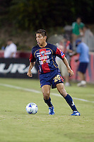 Atlante FC defender Clemente Ovalle dribbles the ball.  Houston Dynamo leads Atlante FC 3-0 at halftime during the group stage of the Superliga tournament at Robertson Stadium in Houston, TX on July 12, 2008.