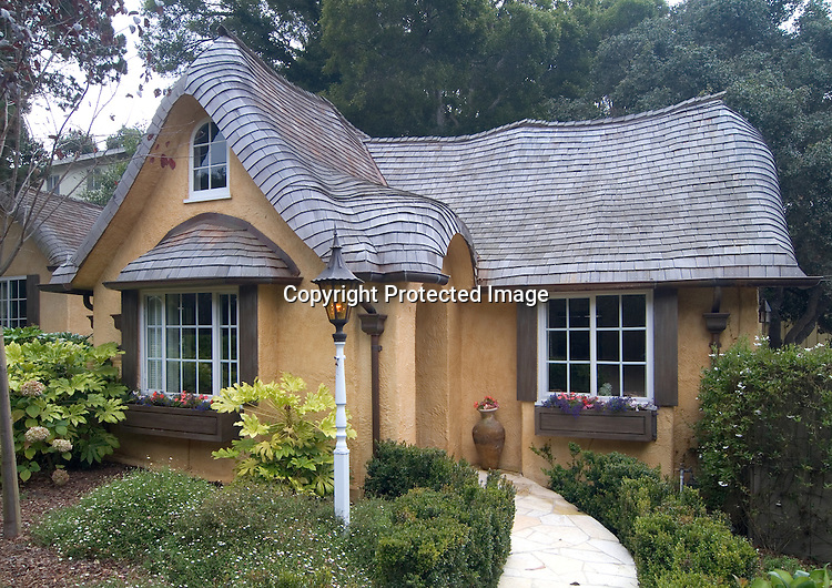 Storybook style cottage in carmel douglas keister for Cottages in los angeles