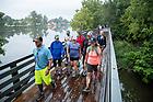 August 21, 2017; ND Trail day 8: Pilgrims walk near Logansport, IN. (Photo by Matt Cashore/University of Notre Dame)