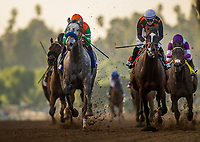 ARCADIA, CA - DECEMBER 26: City of Light #1 with Drayden Van Dyke up  wins the Malibu Stakes at Santa Anita Park on December 26, 2017 in Arcadia, California. (Photo by Alex Evers/Eclipse Sportswire/Getty Images)