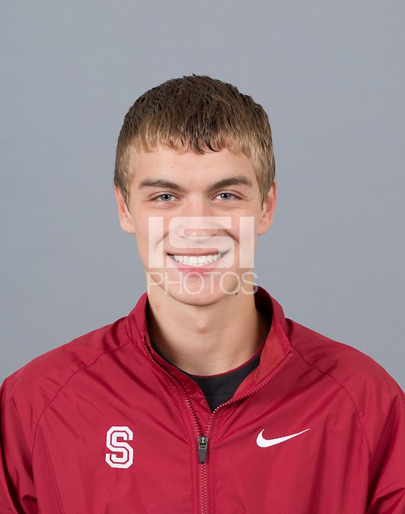 STANFORD, CA - SEPTEMBER 24, 2014--Nathaniel Kucera,, with Stanford University Cross Country Team