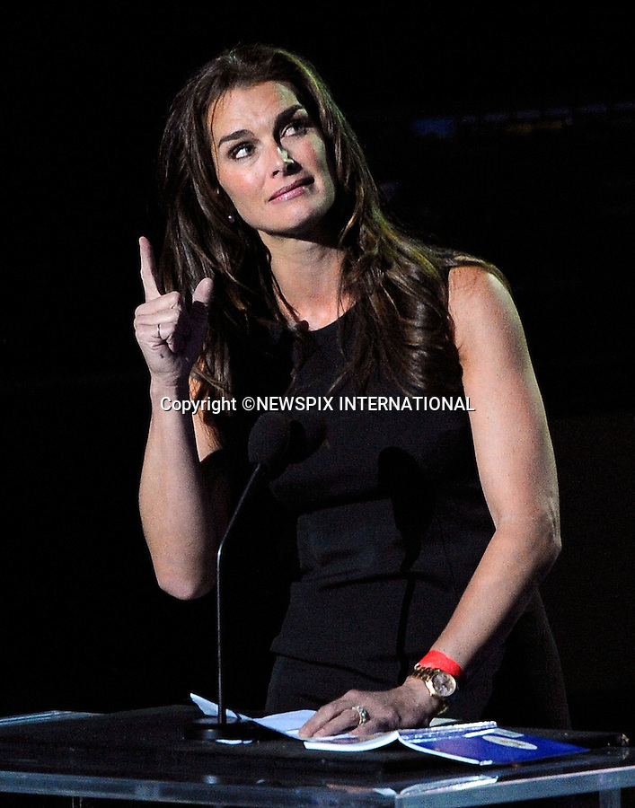 """BROOKE SHIELDS.Michael Jackson Memorial, Staples Center, Los Angeles_07/07/2009.Mandatory Photo Credit: ©MJP/Newspix International..**ALL FEES PAYABLE TO: """"NEWSPIX INTERNATIONAL""""**..PHOTO CREDIT MANDATORY!!: NEWSPIX INTERNATIONAL(Failure to credit will incur a surcharge of 100% of reproduction fees)..IMMEDIATE CONFIRMATION OF USAGE REQUIRED:.Newspix International, 31 Chinnery Hill, Bishop's Stortford, ENGLAND CM23 3PS.Tel:+441279 324672  ; Fax: +441279656877.Mobile:  0777568 1153.e-mail: info@newspixinternational.co.uk"""