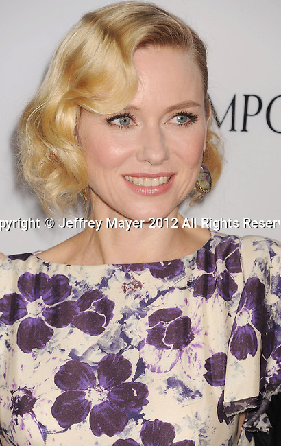 HOLLYWOOD, CA - DECEMBER 10: Naomi Watts arrives at the 'The Impossible' - Los Angeles Premiere at ArcLight Cinemas Cinerama Dome on December 10, 2012 in Hollywood, California.