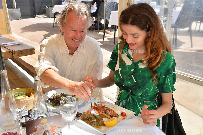 Actress Blanca Blanco with actor boyfriend John Savage in Cannes to promote her new movie &quot;Mission Possible&quot; at the 71st Festival de Cannes, Cannes, France 11 May 2018<br /> Picture: Paul Smith/Featureflash/SilverHub 0208 004 5359 sales@silverhubmedia.com
