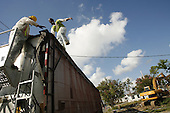 Saint Bernards Parish, Louisiana.May 26, 2006..Demolition teams work at leveling as many as 6,000 homes in St. Bernard's Parish damaged by hurricane Katrina in August of 2005..