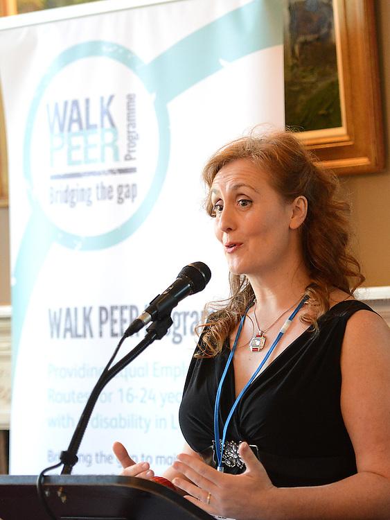 Grainne Berrill Walk Peer Programme speaking at the launch of the Walk Peer Programme in Bellingham Castle hotel. Photo:Colin Bell/pressphotos.ie
