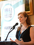 Grainne Berrill Walk Peer Programme speaking at the launch of the Walk Peer Programme in Bellingham Castle hotel. Photo:Colin Bell/pressphotos.ie