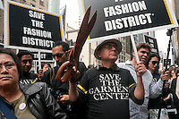New York, NY -  21 October 2009- Fashion designers, garment workers, and students at a rally to Save the Garment Disrictand preserve American manufacturing.