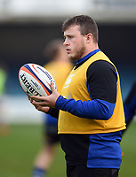 Arthur Cordwell of Bath United looks on during the pre-match warm-up. Premiership Rugby Shield match, between Bath United and Gloucester United on April 8, 2019 at the Recreation Ground in Bath, England. Photo by: Patrick Khachfe / Onside Images