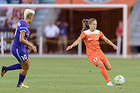 Andressa (17) of the Houston Dash passes the ball against the Orlando Pride on Friday, May 20, 2016 at BBVA Compass Stadium in Houston Texas. The Orlando Pride defeated the Houston Dash 1-0.