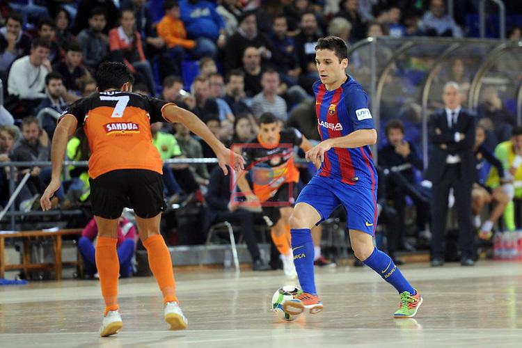 League LNFS 2016/2017 - Game 6.<br /> FC Barcelona Lassa vs Aspil Vidal Ribera Navarra: 7-1.<br /> Rubi vs Dyego.