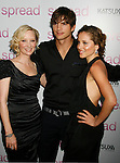 "HOLLYWOOD, CA. - August 03: Anne Heche, Ashton Kutcher and Margarita Levieva arrive at the Los Angeles premiere of ""Spread"" at the ArcLight Hollywood on August 3, 2009 in Hollywood, California."