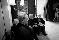 Afred Pelland et le cardinal Leger honores lors de<br /> La collation des grades de l UdeM, 31 mai 1974<br /> <br /> <br /> PHOTO : Agence Quebec Presse