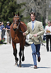 April 23, 2014: Seacookie TSF and William Fox-Pitt during the first horse inspection at the Rolex Three Day Event in Lexington, KY at the Kentucky Horse Park.  Candice Chavez/ESW/CSM