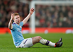 Kevin De Bruyne of Manchester City complains during the Carabao Cup match at Old Trafford, Manchester. Picture date: 7th January 2020. Picture credit should read: Darren Staples/Sportimage