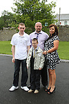 James Collins and Family at Slane NS Communion...(Photo credit should read Jenny Matthews www.newsfile.ie)....This Picture has been sent you under the conditions enclosed by:.Newsfile Ltd..The Studio,.Millmount Abbey,.Drogheda,.Co Meath..Ireland..Tel: +353(0)41-9871240.Fax: +353(0)41-9871260.GSM: +353(0)86-2500958.email: pictures@newsfile.ie.www.newsfile.ie.