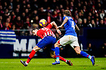 Nikola Kalinic of Atletico de Madrid (L) competes for the ball with Inigo Martinez of Athletic de Bilbao during the La Liga 2018-19 match between Atletico de Madrid and Athletic de Bilbao at Wanda Metropolitano, on November 10 2018 in Madrid, Spain. Photo by Diego Gouto / Power Sport Images