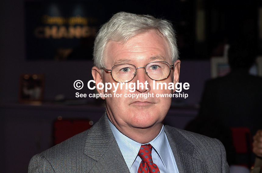 Don Touhig, Labour Party, MP, Wales. Junior Minister. Taken at Labour Party Conference, Brighton, UK. Ref: 200110013577...Copyright Image from Victor Patterson, 54 Dorchester Park, Belfast, UK, BT9 6RJ..Tel: +44 28 9066 1296.Mob: +44 7802 353836.Voicemail +44 20 8816 7153.Skype: victorpattersonbelfast.Email: victorpatterson@mac.com.Email: victorpatterson@ireland.com (back-up)..IMPORTANT: If you wish to use this image or any other of my images please go to www.victorpatterson.com and click on the Terms & Conditions. Then contact me by email or phone with the reference number(s) of the image(s) concerned.