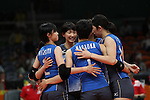 Japan Women's team group (JPN), <br /> AUGUST 6, 2016 - Volleyball : <br /> Women's Preliminary Pool A<br /> between Japan 1-3 South Korea<br /> at Maracanazinho <br /> during the Rio 2016 Olympic Games in Rio de Janeiro, Brazil. <br /> (Photo by Koji Aoki/AFLO SPORT)