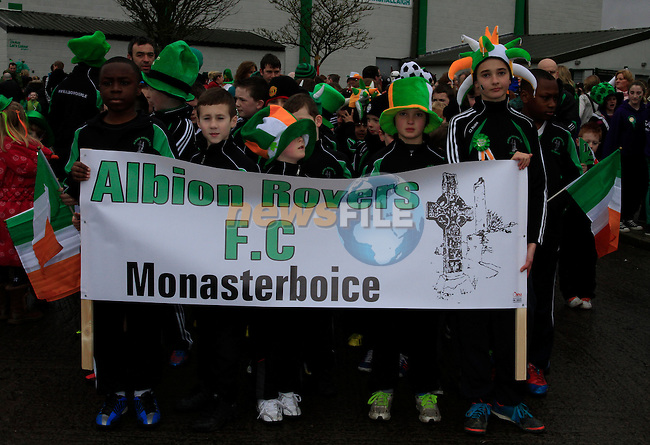 St Patricks Day parade in Slane..Picture: Thos Caffrey / www.newsfile.ie ..