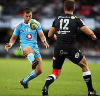 DURBAN, SOUTH AFRICA - APRIL 14:  during the Super Rugby match between Cell C Sharks and Vodacom Bulls at Jonsson Kings Park Stadium on April 14, 2018 in Durban, South Africa. Photo: Steve Haag / stevehaagsports.com