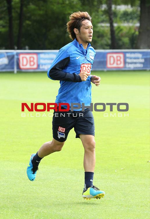 21.08.2013, Sportpark, Berlin, GER, 1.FBL, Hertha BSC , Training, im Bild Hajime Hosogai (Hertha BSC Berlin)<br /> <br />               <br /> Foto &copy; nph /  Schulz