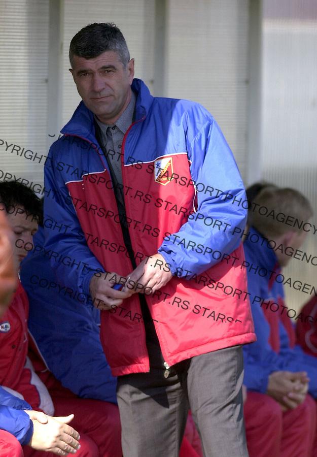 SPORT FUDBAL ZELEZNIK LAVOVI VOJVODINA 6.3.2004. Branko Smiljanic foto: Pedja Milosavljevic<br />