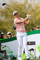 Cameron Smith (AUS) on the 9th tee during the 3rd round of the Waste Management Phoenix Open, TPC Scottsdale, Scottsdale, Arisona, USA. 02/02/2019.<br /> Picture Fran Caffrey / Golffile.ie<br /> <br /> All photo usage must carry mandatory copyright credit (© Golffile | Fran Caffrey)