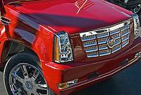 Golf Cart Red Cadillac Grill Close Up, Custom, Classic, Unique,