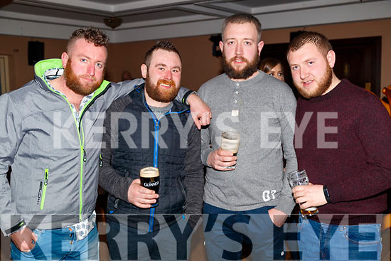 Johnny Lyne, Pa O'Regan with John O'Rourke and James O'Rourke, enjoying the Beard Festival in Causeway on Saturday night last.